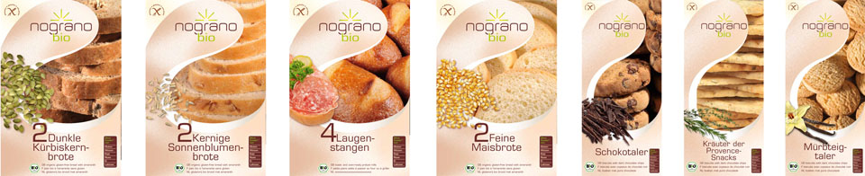 Nograno-Brote Packungen